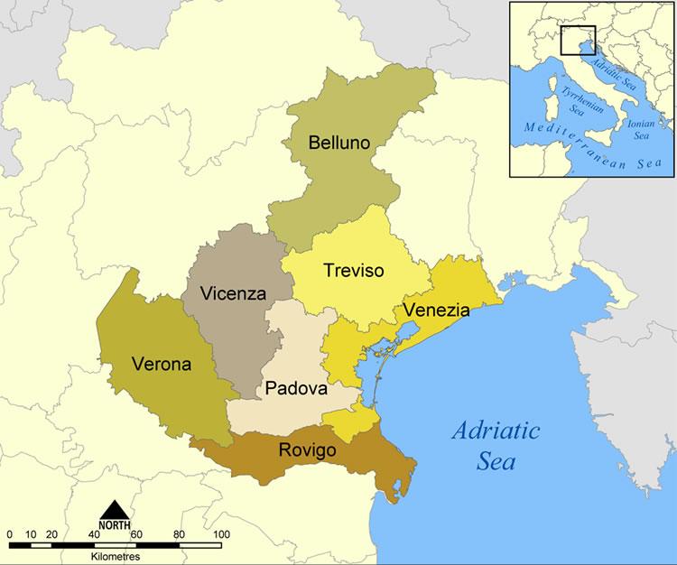 Cartina Veneto Mare.Veneto Regione Veneto Vacanza Veneto Mare Veneto